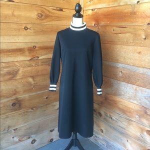 Vintage David Crystal 1960's Black Polyester Dress